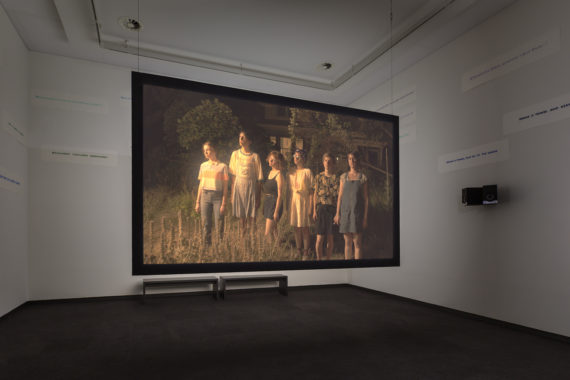 Rory Pilgrim, The Undercurrent, 2019, exhibition Prix de Rome 2019, Stedelijk Museum Amsterdam. Multimedia installation, courtesy andriesse eyck galerie, with special thanks to MING Studios and David Andrews (posters). Photo: Daniel Nicolas